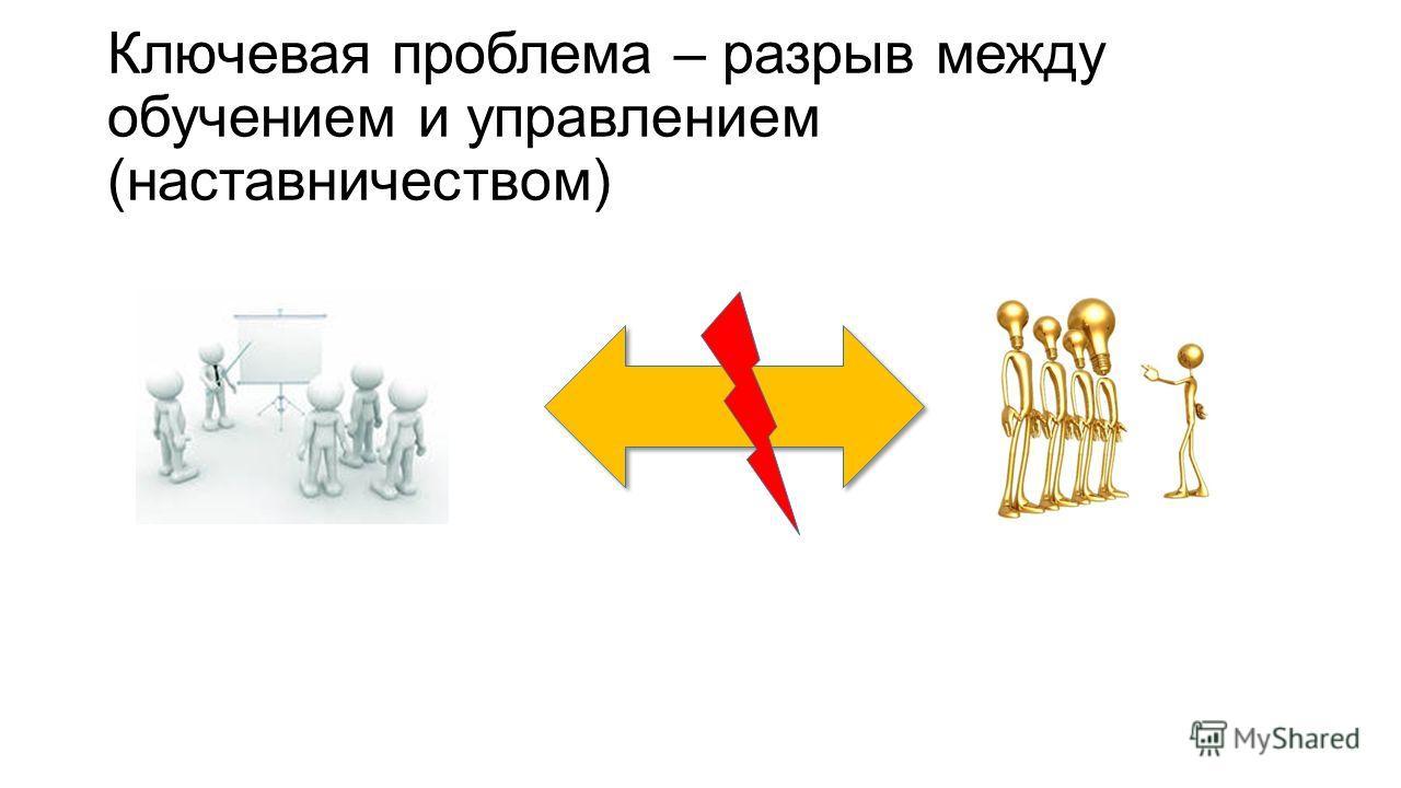 Ключевая проблема – разрыв между обучением и управлением (наставничеством)