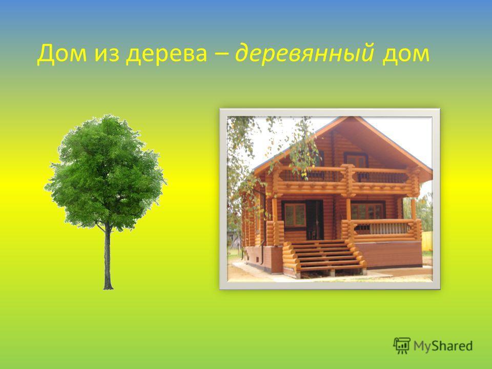 Дом из дерева – деревянный дом