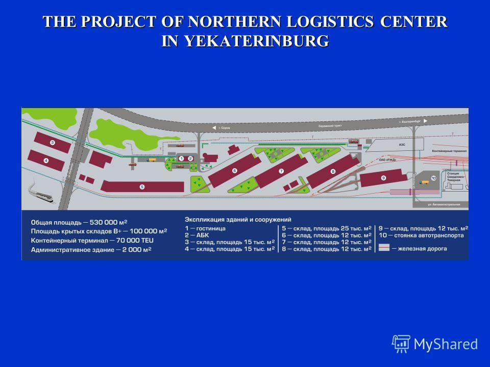 THE PROJECT OF NORTHERN LOGISTICS CENTER IN YEKATERINBURG
