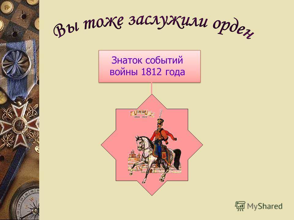 Знаток событий войны 1812 года