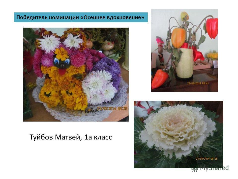 Победитель номинации «Осеннее вдохновение» Туйбов Матвей, 1 а класс