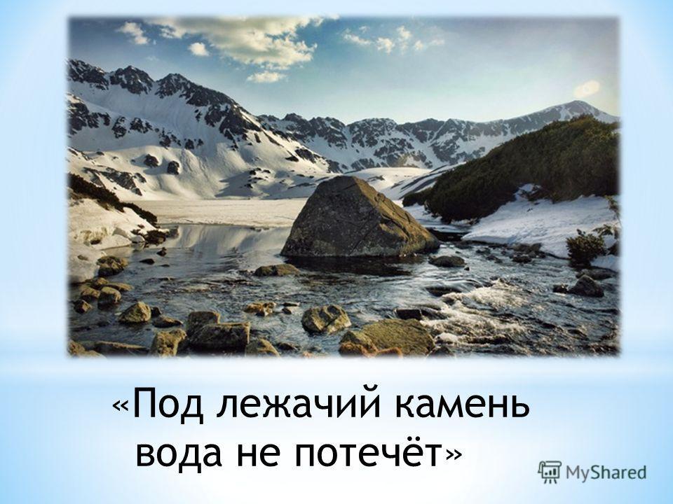 «Под лежачий камень вода не потечёт»