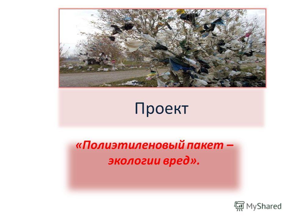 Проект «Полиэтиленовый пакет – экологии вред».