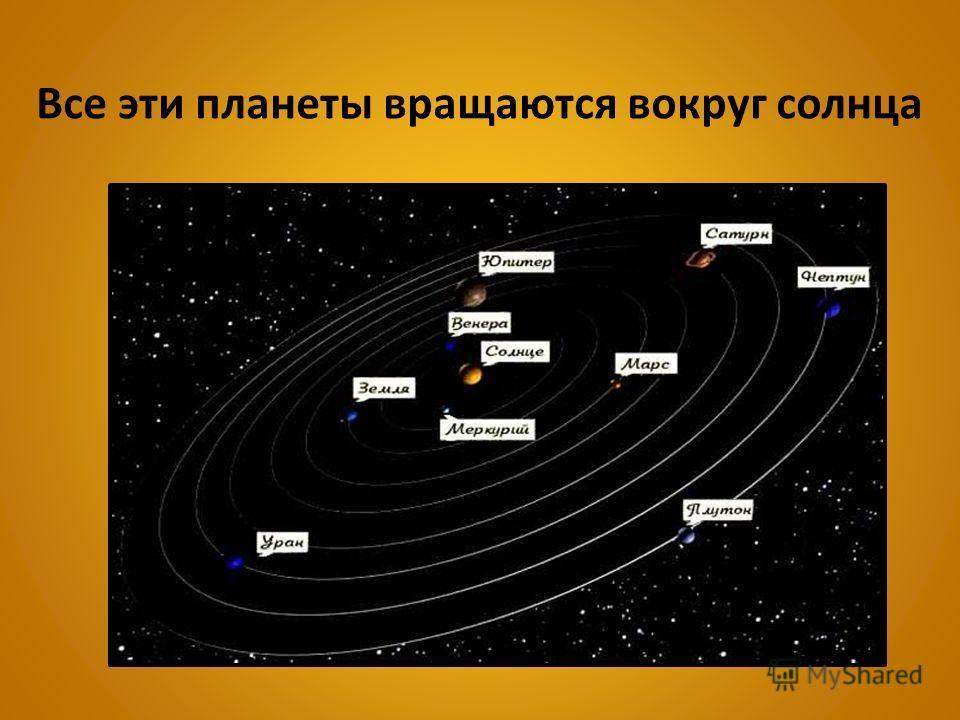 Все эти планеты вращаются вокруг солнца