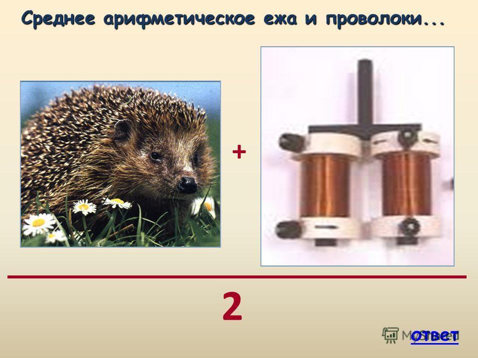+ 2 Среднее арифметическое ежа и проволоки... Среднее арифметическое ежа и проволоки... ответ