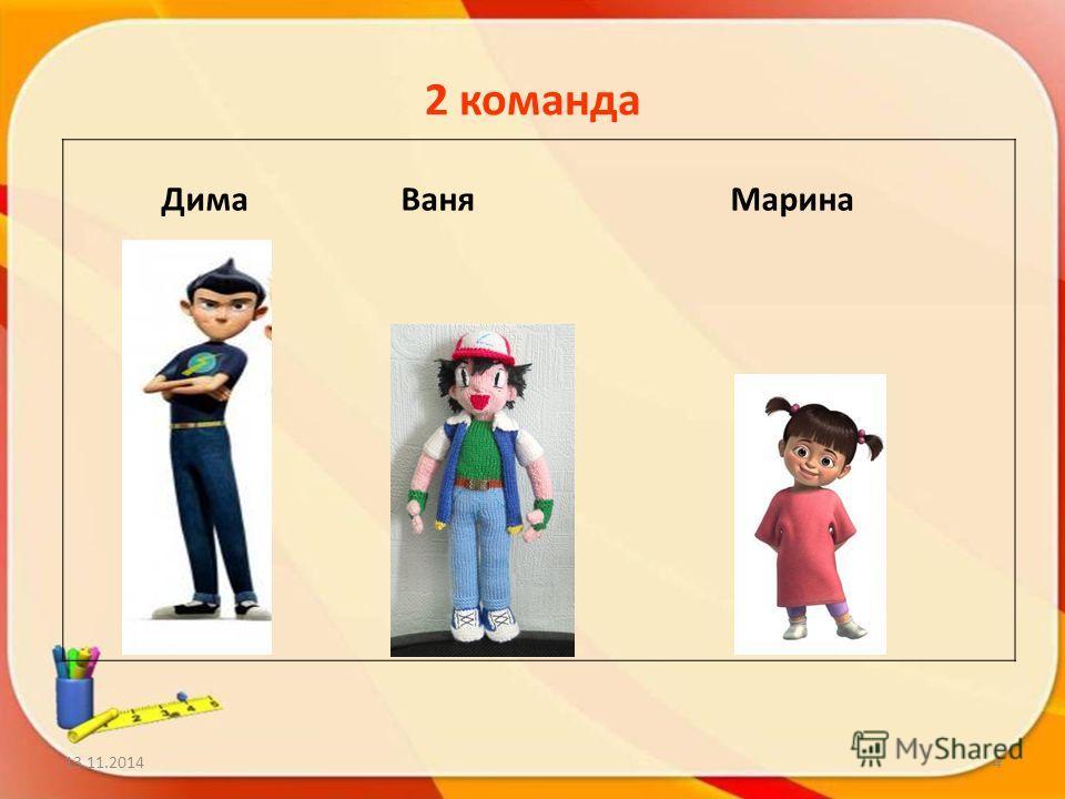 2 команда Дима Ваня Марина 13.11.20144