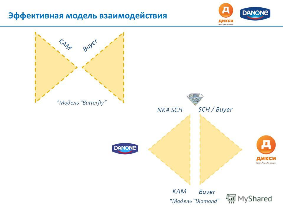 *Модель Diamond KAM Buyer NKA SCH SCH / Buyer Эффективная модель взаимодействия *Модель Butterfly KAM Buyer