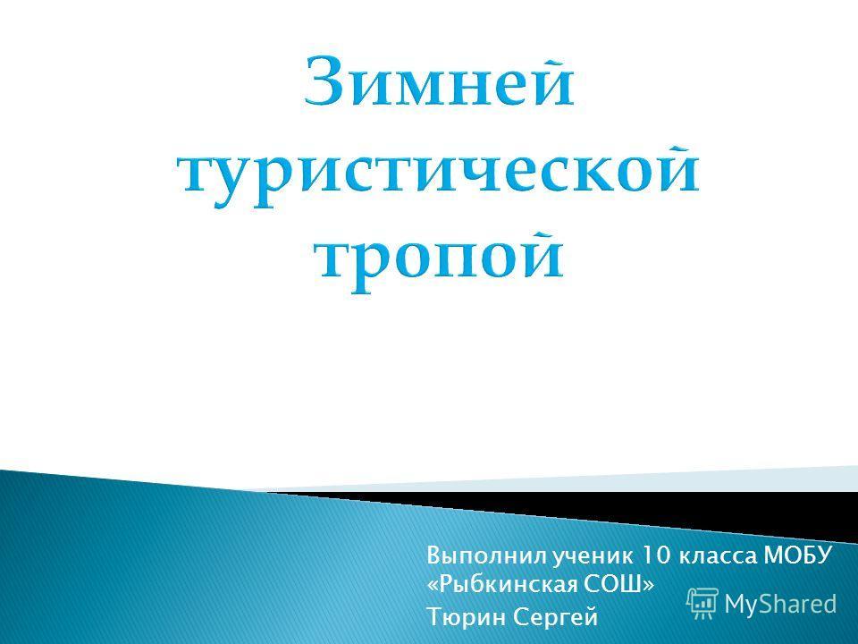 Выполнил ученик 10 класса МОБУ «Рыбкинская СОШ» Тюрин Сергей