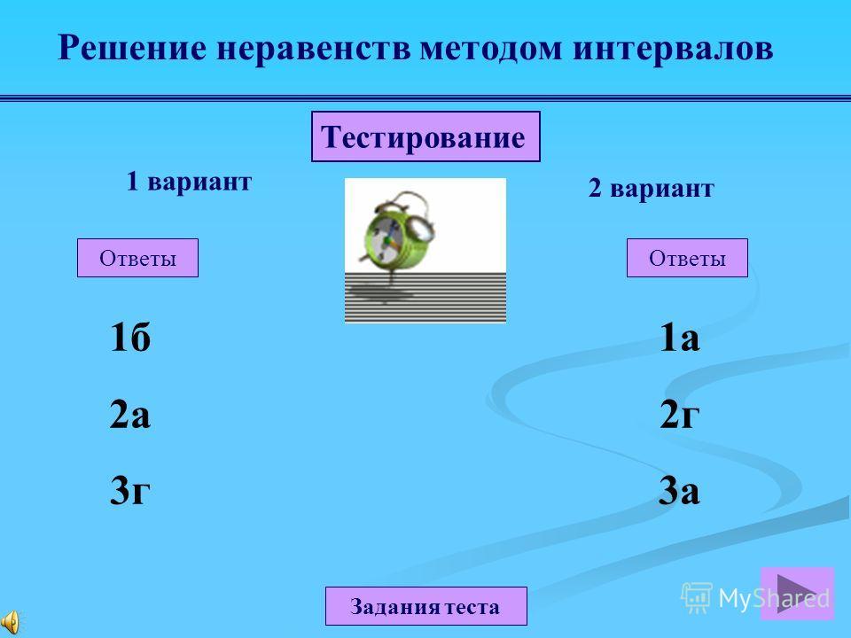 Задание 1 Ответ ( 6; 2]. Задание 2 Ответ ( 5; 4) (3; ). Решение неравенств методом интервалов