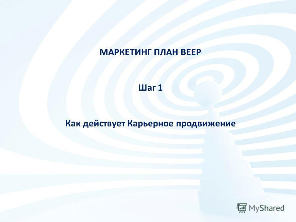 МАРКЕТИНГ ПЛАН BEEP Шаг 1 Как действует Карьерное продвижение