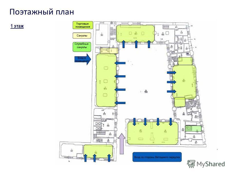 1 этаж Поэтажный план