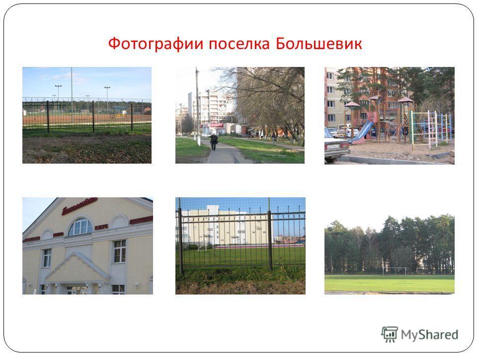 Фотографии поселка Большевик