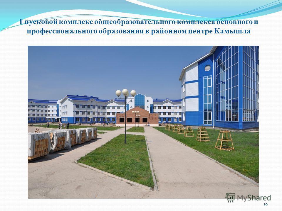 I пусковой комплекс общеобразовательного комплекса основного и профессионального образования в районном центре Камышла 10