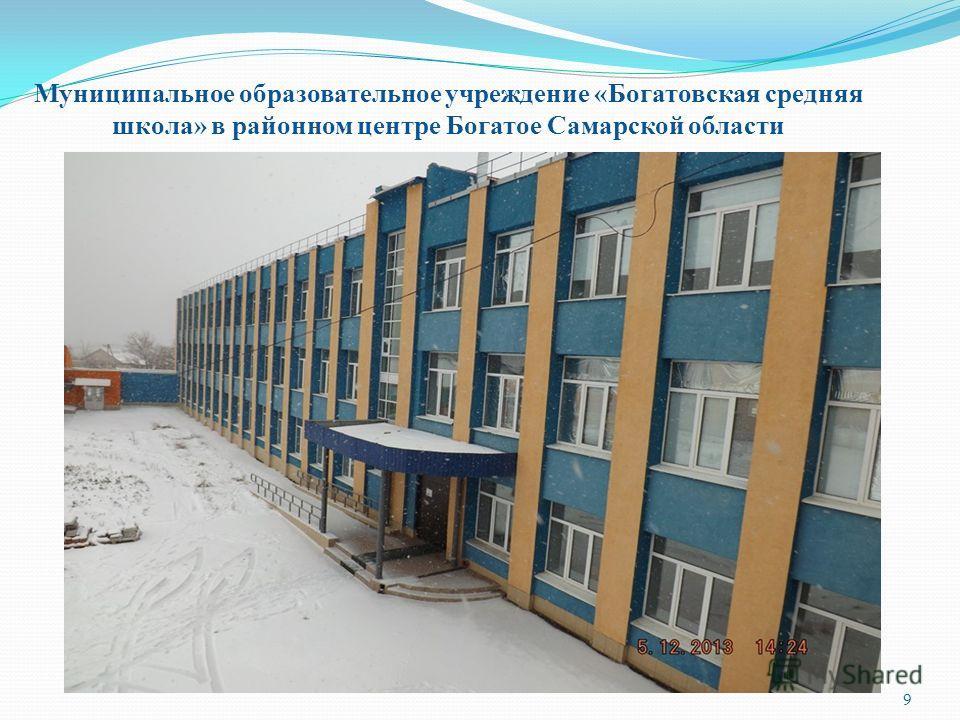 Муниципальное образовательное учреждение «Богатовская средняя школа» в районном центре Богатое Самарской области 9