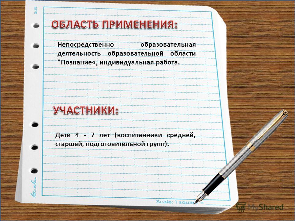 Непосредственно образовательная деятельность образовательной области Познание«, индивидуальная работа. Дети 4 - 7 лет (воспитанники средней, старшей, подготовительной групп).