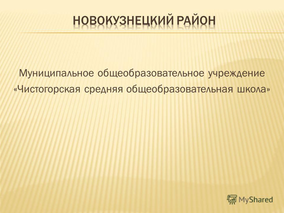 Муниципальное общеобразовательное учреждение «Чистогорская средняя общеобразовательная школа»