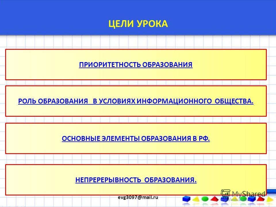 ОБРАЗОВАНИЕ ПРЕЗЕНТАЦИЯ ПО ОБЩЕСТВОЗНАНИЮ. 8 КЛАСС. БАЗОВЫЙ УРОВЕНЬ. СМИРНОВ ЕВГЕНИЙ evg3097@mail.ru