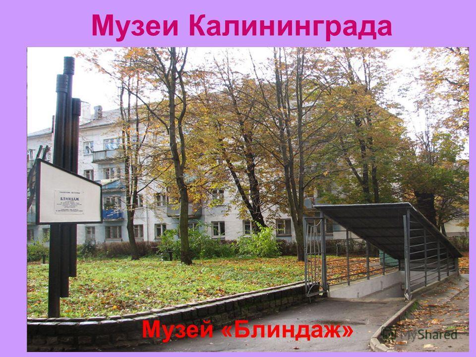 Музеи Калининграда Историко-художественный музей Музей «Блиндаж»