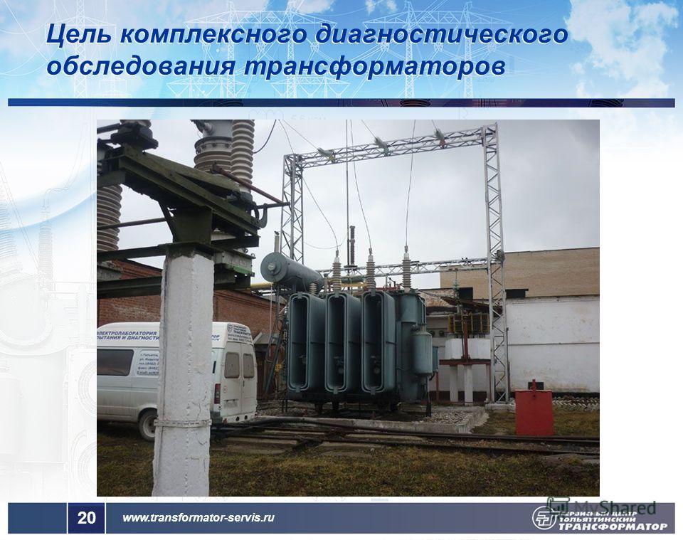 www.transformator-servis.ru Цель комплексного диагностического обследования трансформаторов 20