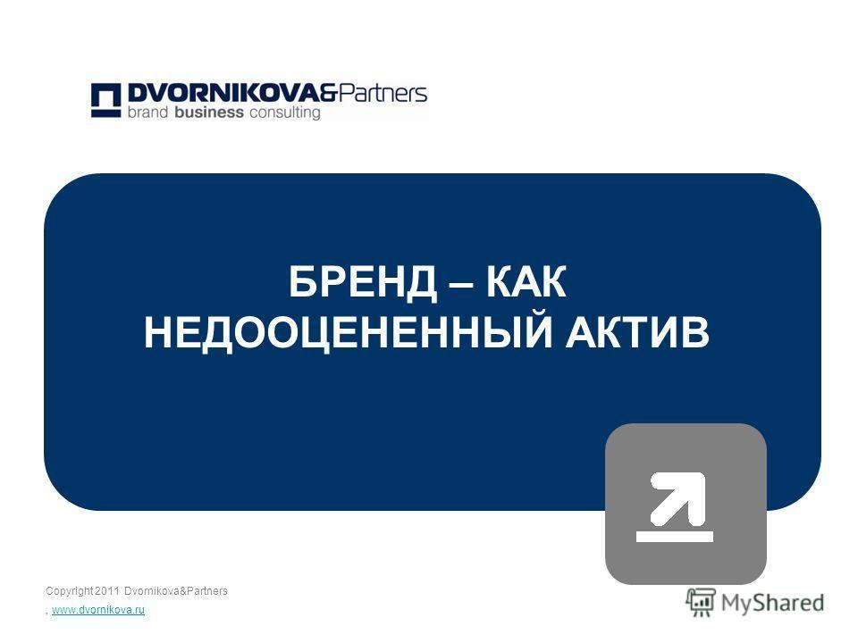 Copyright 2011 Dvornikova&Partners, www.dvornikova.ruwww.dvornikova.ru БРЕНД – КАК НЕДООЦЕНЕННЫЙ АКТИВ