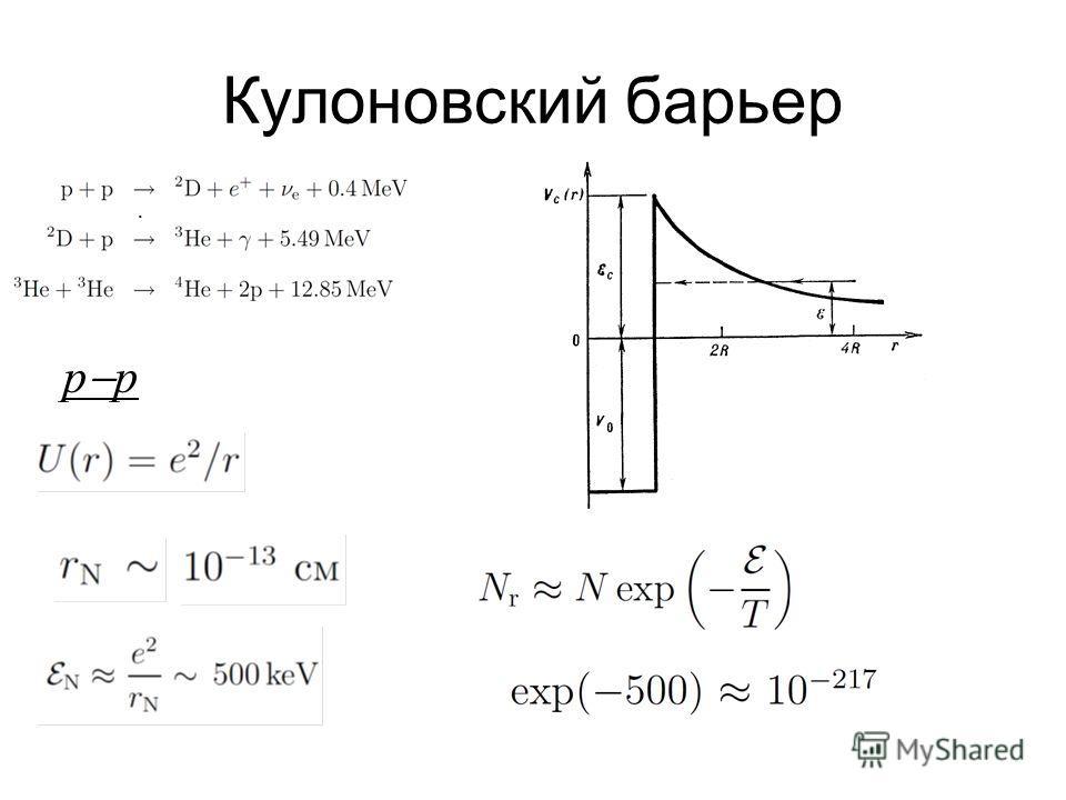Кулоновский барьер p.