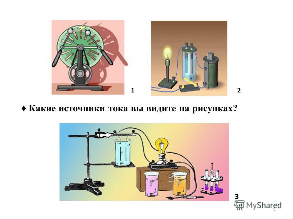 3 21 Какие источники тока вы видите на рисунках? 9