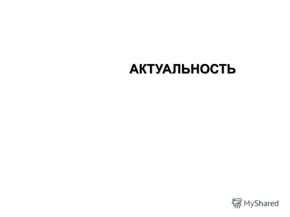 АКТУАЛЬНОСТЬ