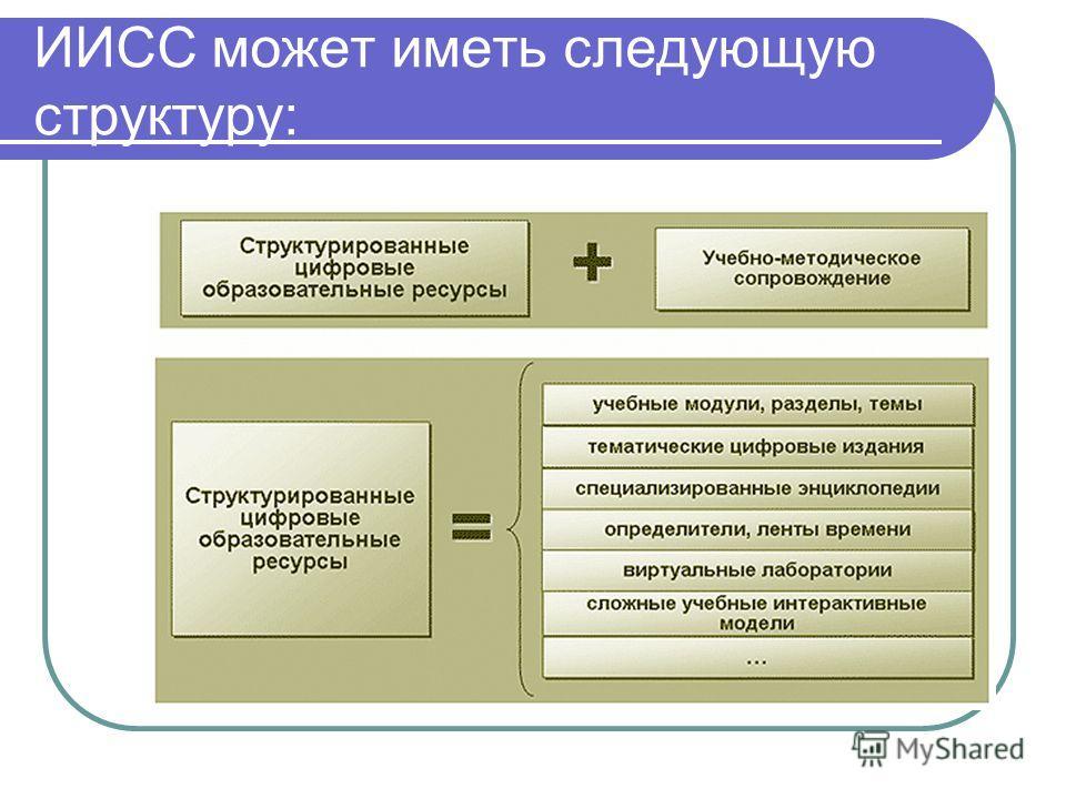 ИИСС может иметь следующую структуру: