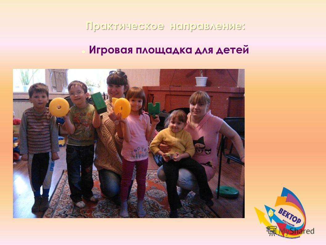 Практическое направление: Игровая площадка для детей