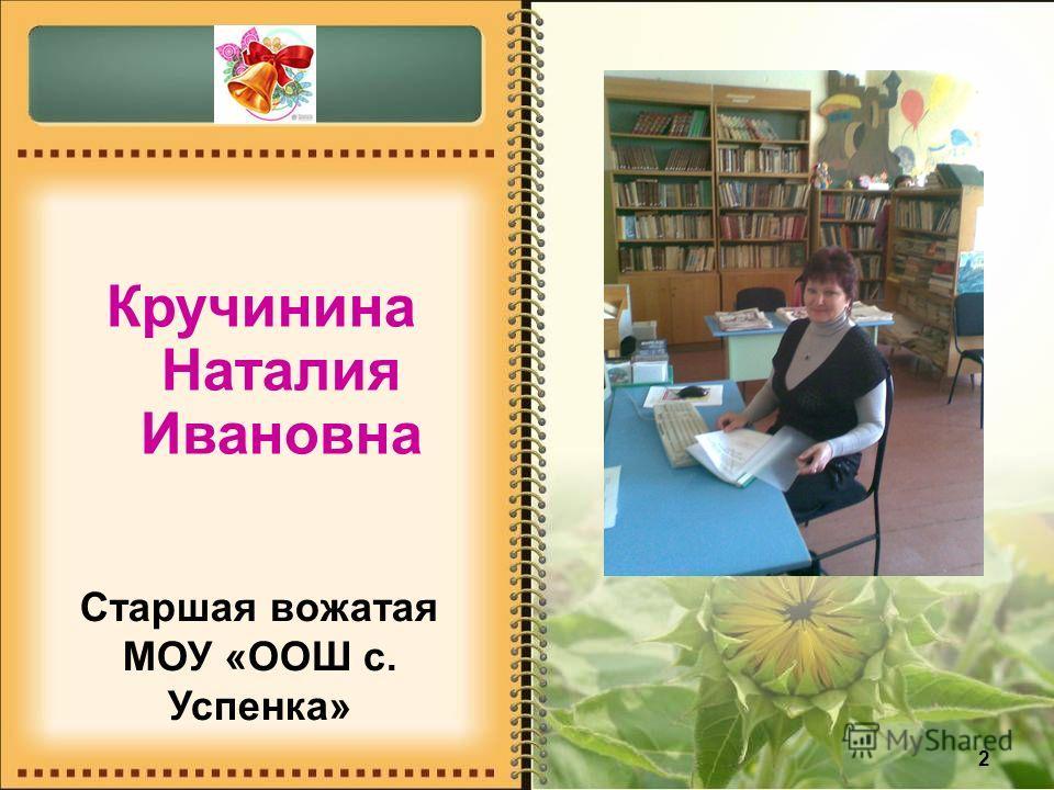 2 Кручинина Наталия Ивановна Старшая вожатая МОУ «ООШ с. Успенка»