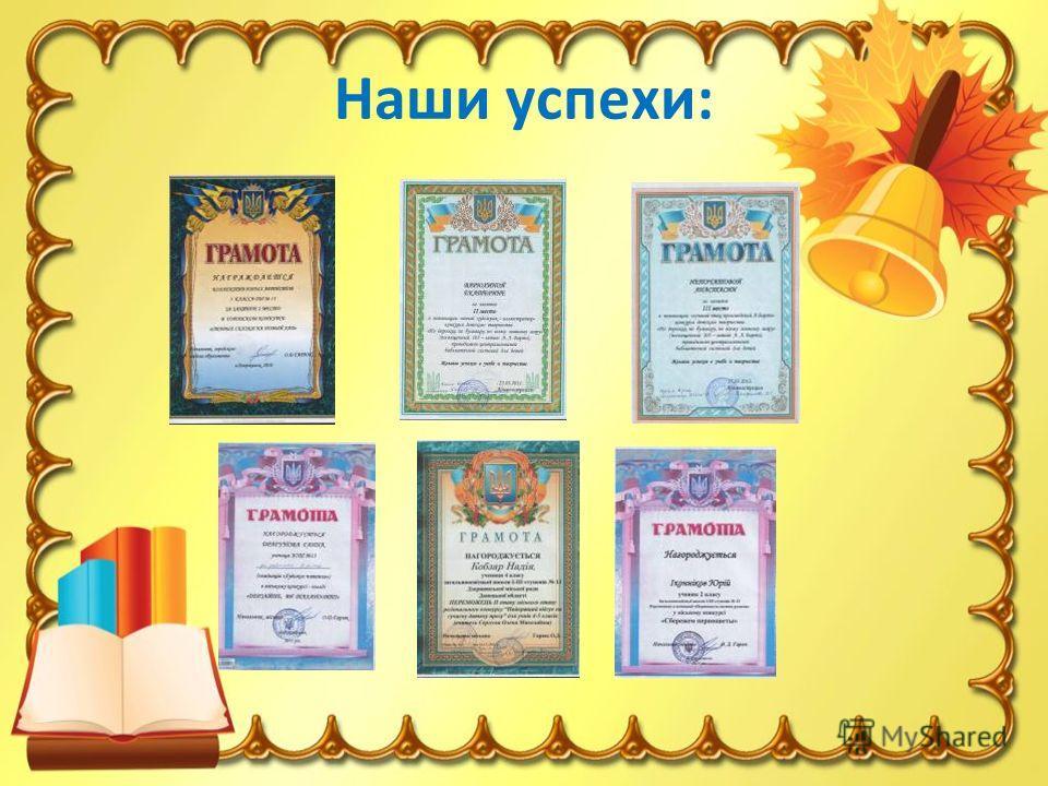 Наши успехи: