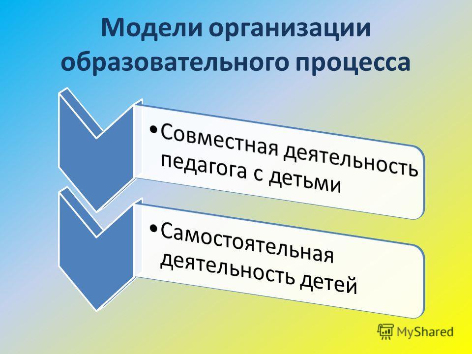 Модели организации образовательного процесса