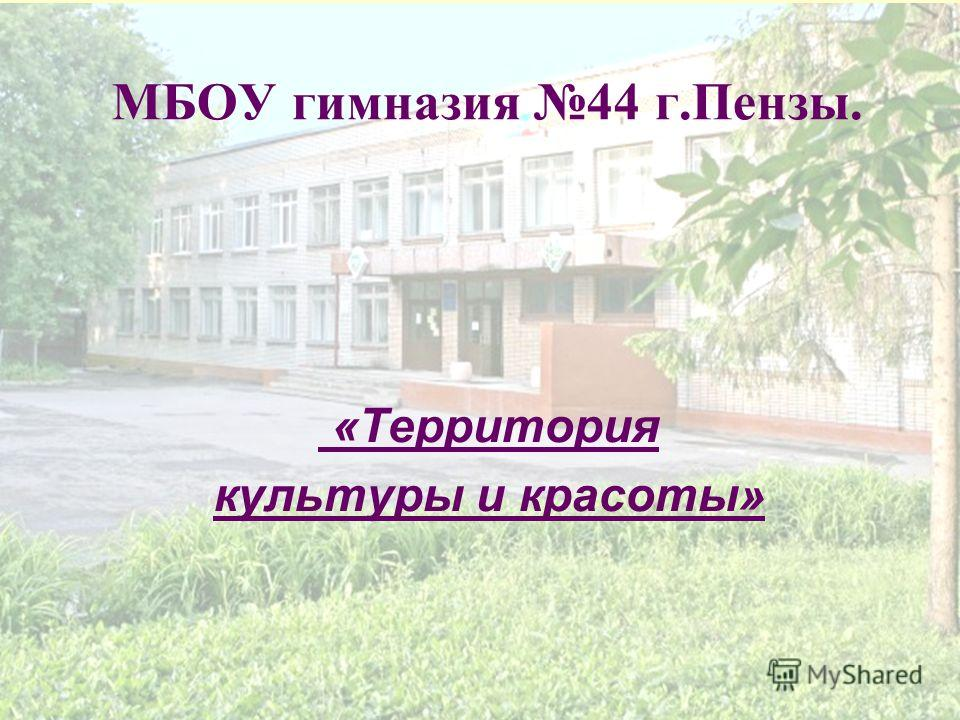 МБОУ гимназия 44 г.Пензы. «Территория культуры и красоты»