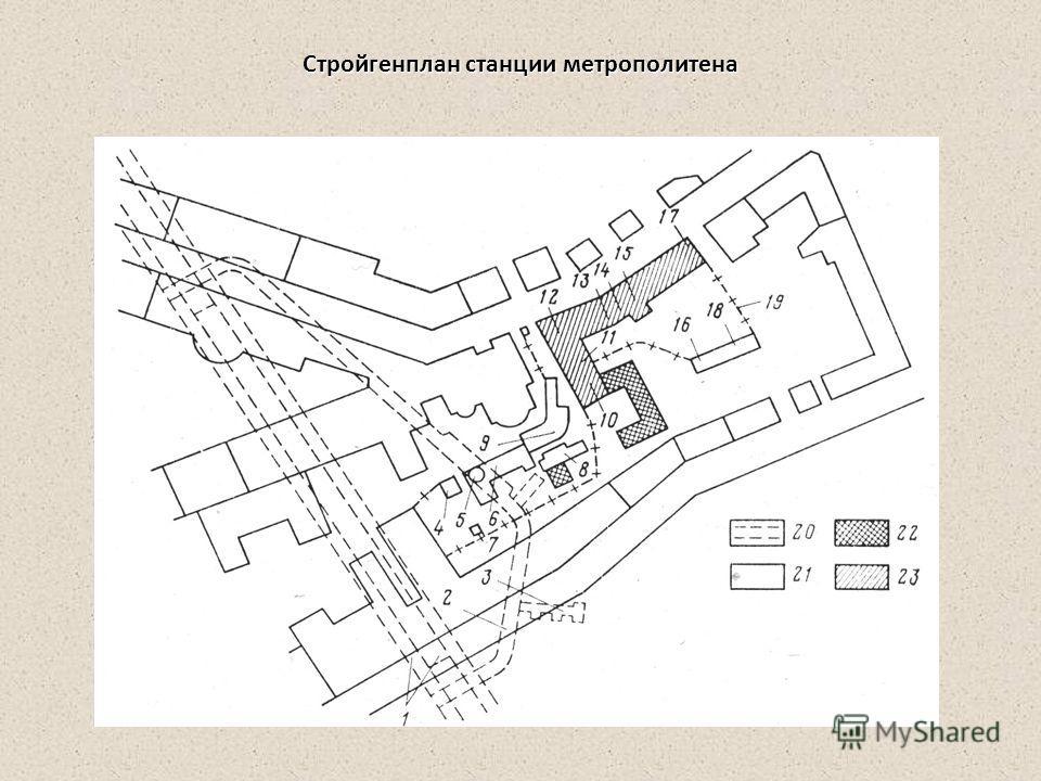 Стройгенплан станции метрополитена