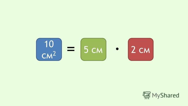 10 см 2 5 см 2 см = ·
