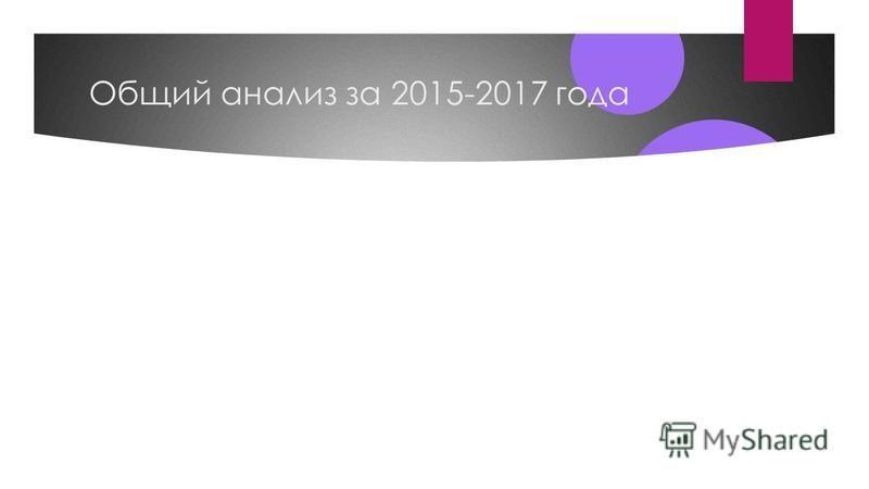Общий анализ за 2015-2017 года