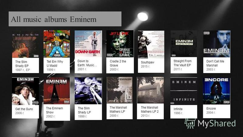 All music albums Eminem