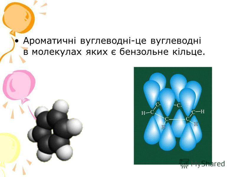 Ароматичні вуглеводні-це вуглеводні в молекулах яких є бензольне кільце.
