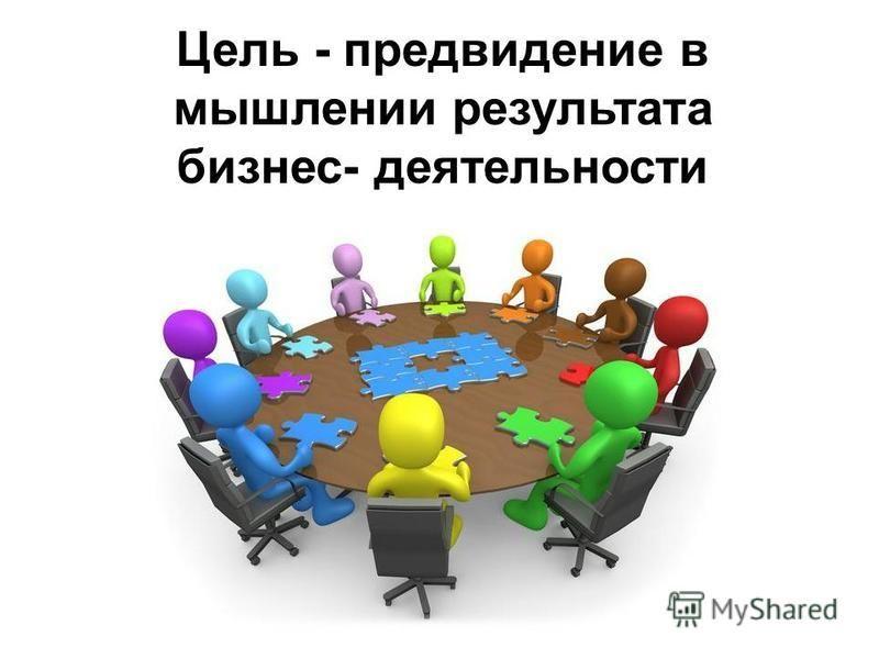 Цель - предвидение в мышлении результата бизнес- деятельности