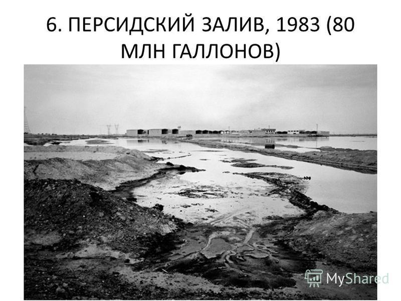 6. ПЕРСИДСКИЙ ЗАЛИВ, 1983 (80 МЛН ГАЛЛОНОВ)
