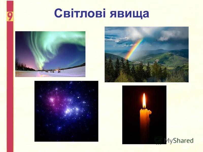Світлові явища
