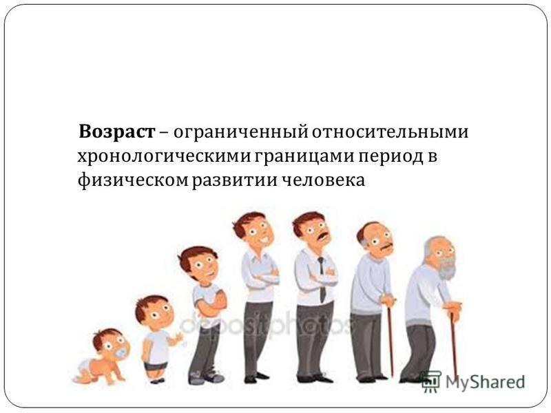 Возраст – ограниченный относительными хронологическими границами период в физическом развитии человека