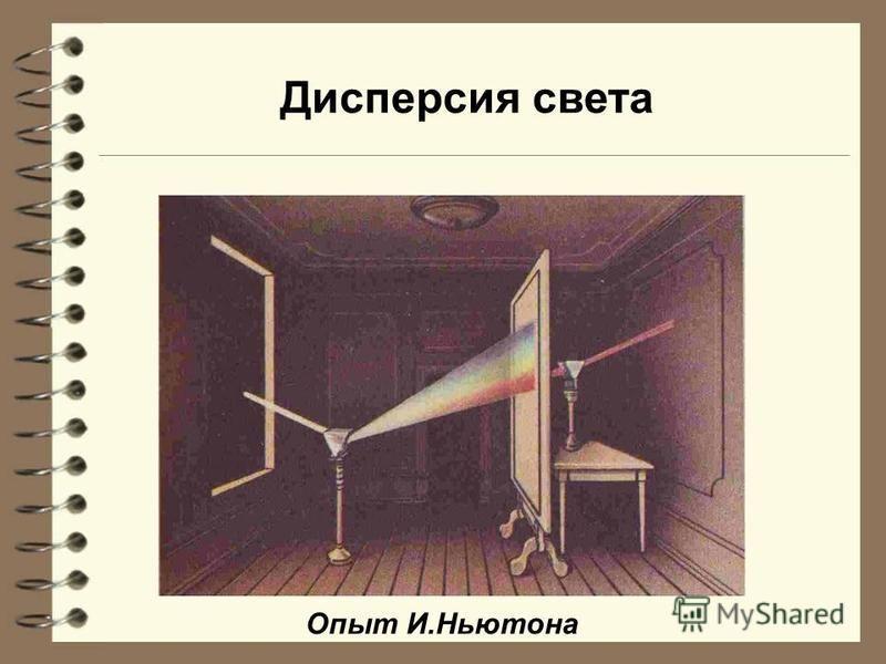 Дисперсия света Опыт И.Ньютона