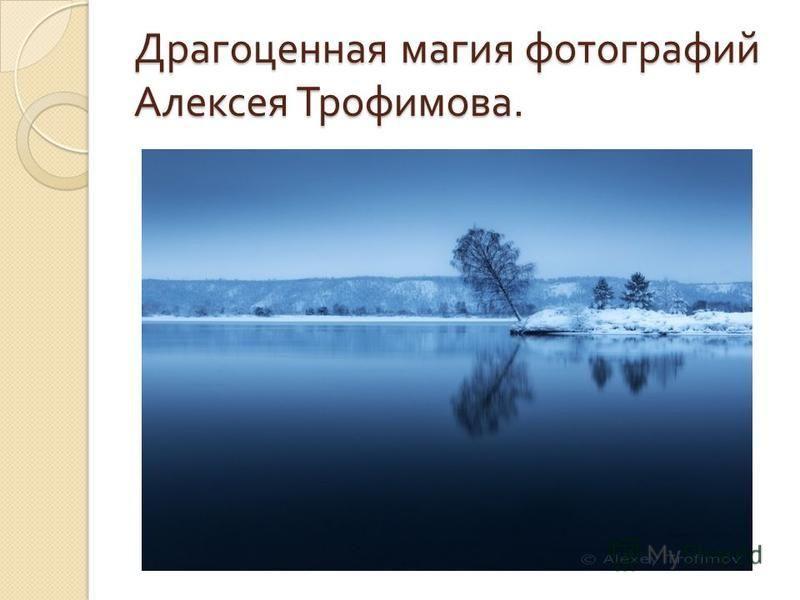 Драгоценная магия фотографий Алексея Трофимова.
