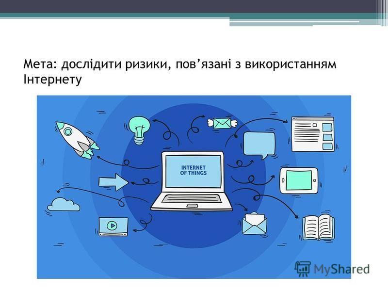 Мета: дослідити ризики, повязані з використанням Інтернету