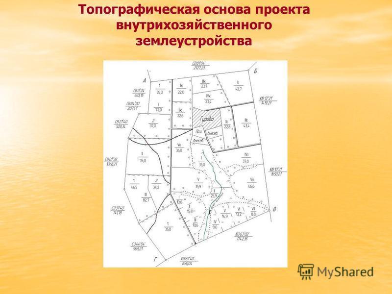 Топографическая основа проекта внутрихозяйственного землеустройства